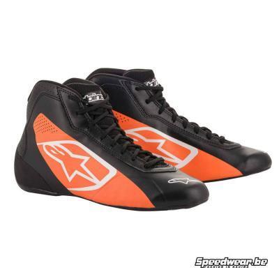 Alpinestars Tech 1 K Start kartschoenen - Zwart Oranje fluo