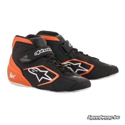 Alpinestars Tech 1 K schoen voor karts - Zwart Oranje Wit