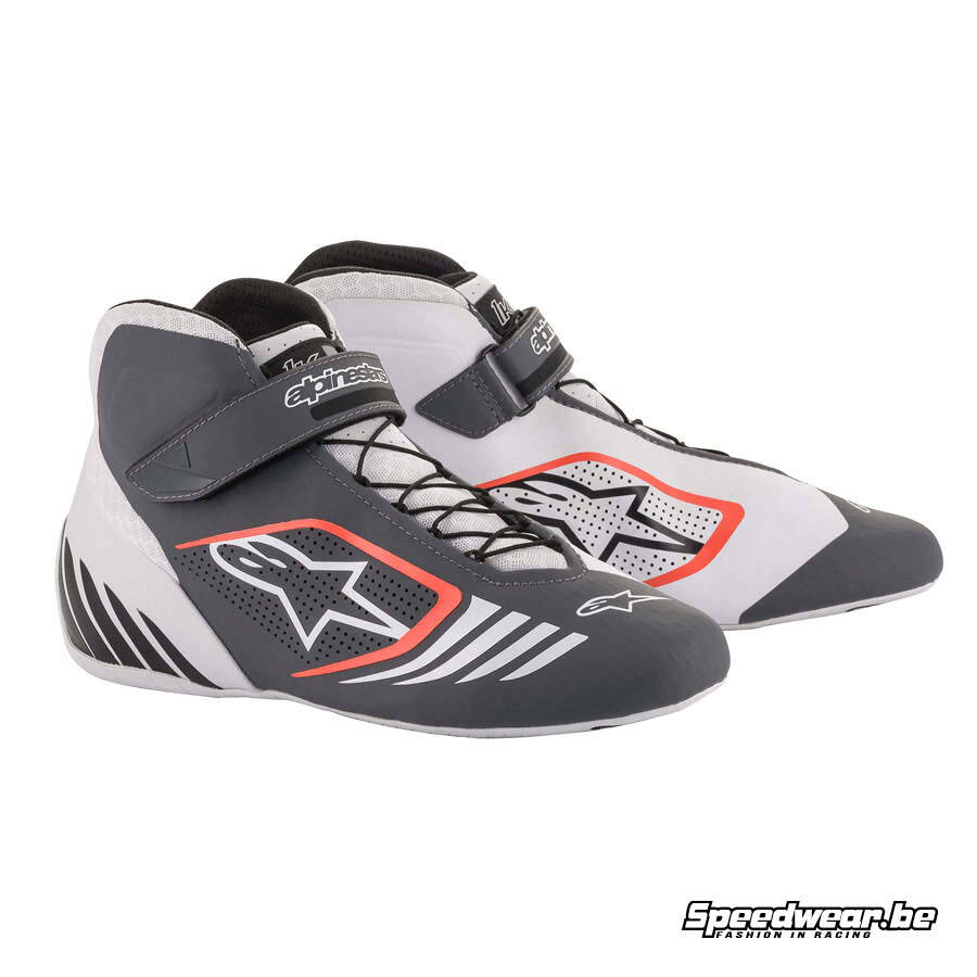 Alpinestars Kartsport schoen Tech 1 KX - Wit Grijs Fluo rood