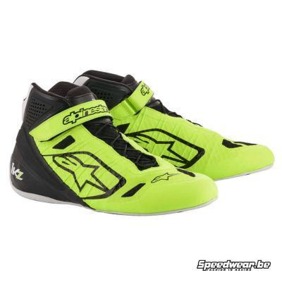 Alpinestars schoenen karting Tech 1 KZ - Fluo geel Zwart