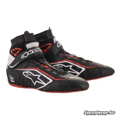 Alpinestars Tech 1Z V2 Autorace schoen - Zwart Wit Rood
