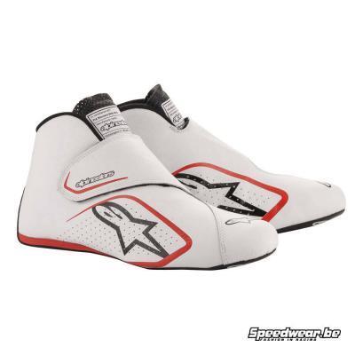 Alpinestars Autosportschoen Supermono - Wit Rood