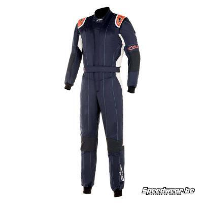 Alpinestars GP Tech V3 autoracing overall - Marineblauw Rood Fluo