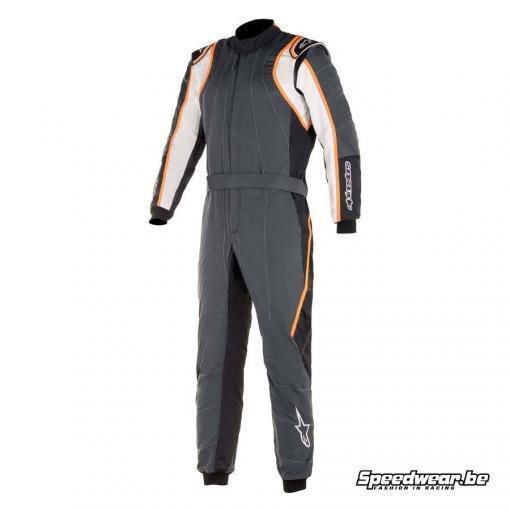 Alpinestars GP racepak voor autosport Race V2 - Anthraciet Wit Oranje