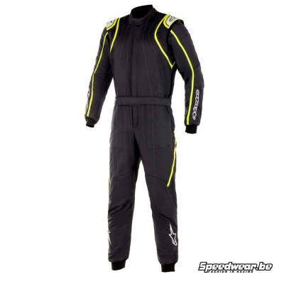 Alpinestars GP Race V2 autosport suit - Zwart Fluo geel