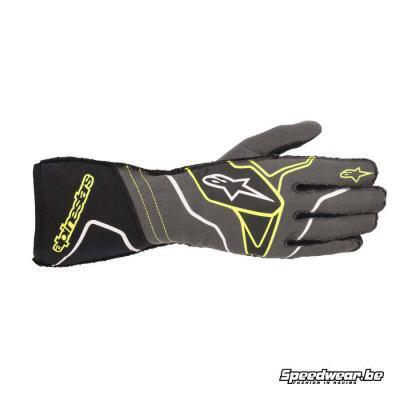 Alpinestars Tech 1 ZX V2 handschoen voor autoraces - Anthraciet Fluo geel Zwart