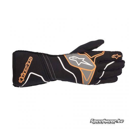Alpinestars Tech 1 ZX V2 handschoen voor autosport - Zwart Oranje fluo