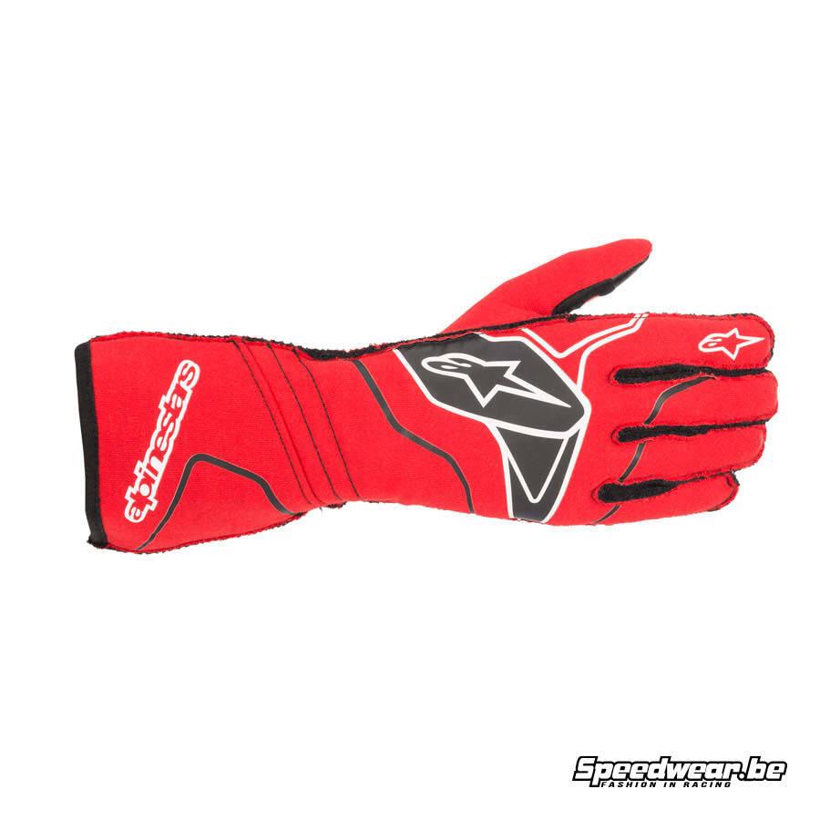 Alpinestars Tech 1 ZX V2 autorace handschoen - Rood Zwart