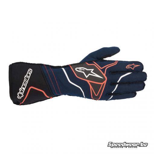 Alpinestars Tech 1 ZX V2 FIA handschoen Navy Blauw Zwart Rood