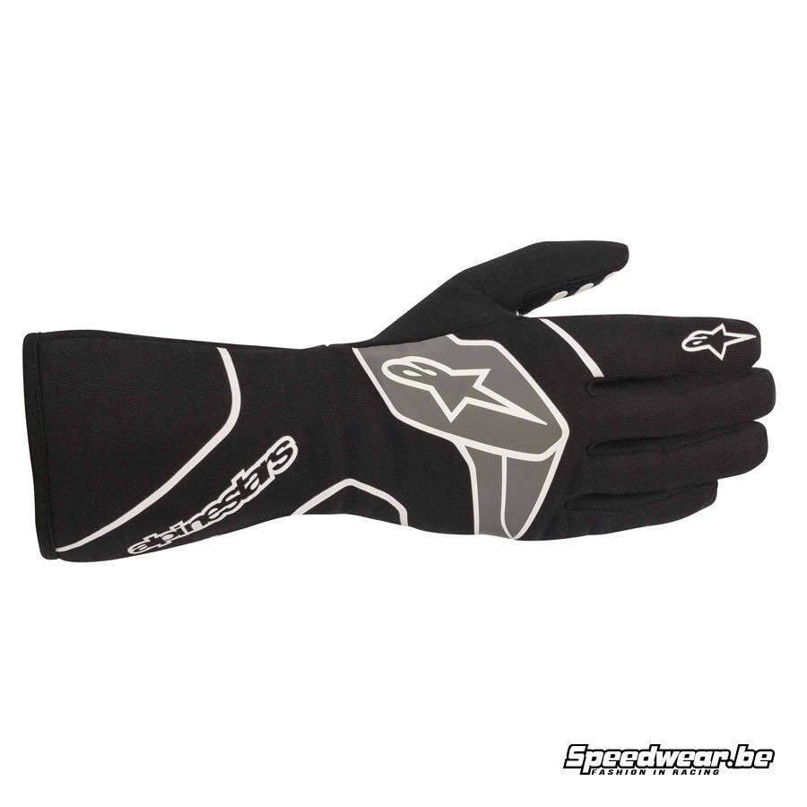 Alpinestars Tech 1-Race V2 handschoen voor autosport FIA - Zwart Wit