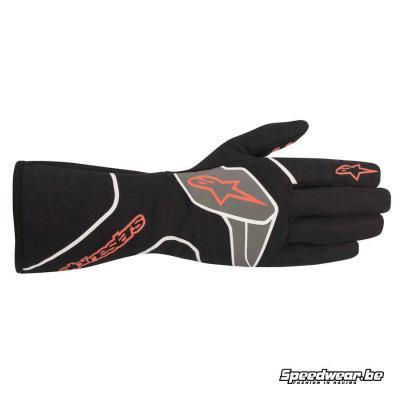 Alpinestars Tech 1-Race V2 handschoen voor autosport- Zwart Rood