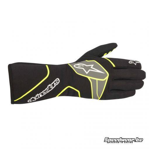 Alpinestars Tech 1-Race V2 FIA handschoen - Zwart Fluo geel