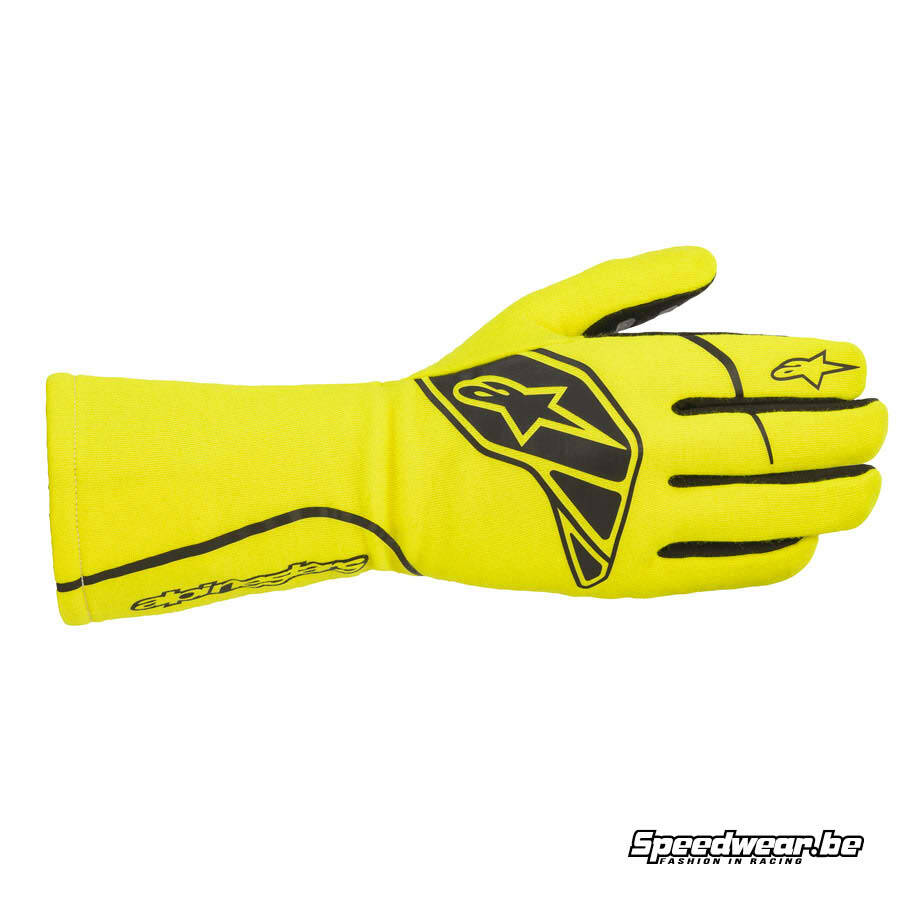 Alpinestars Tech 1-Start V2 Handschoen autoracing - Fluo geel Zwart