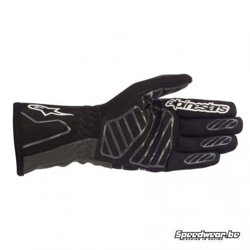 Alpinestars Tech 1 K v2 handschoen - Zwart Anthraciet Achterzijde