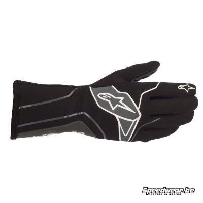 Alpinestars Tech 1 K v2 handschoen - Zwart Anthraciet