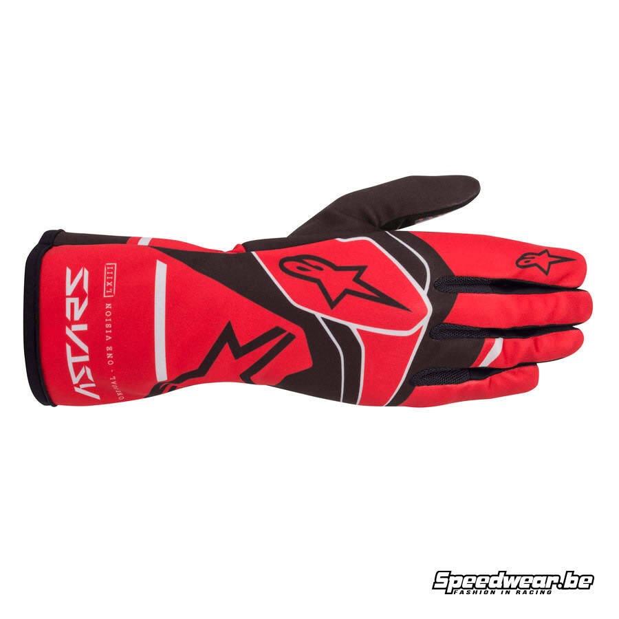 Alpinestars Tech 1-K Race V2 Solid handschoen - Rood Zwart Grijs