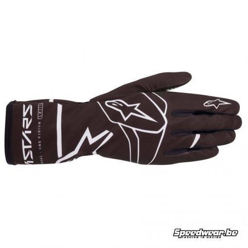 Alpinestars kinderhandschoen Tech 1-K Race S V2 Solid - Zwart Wit