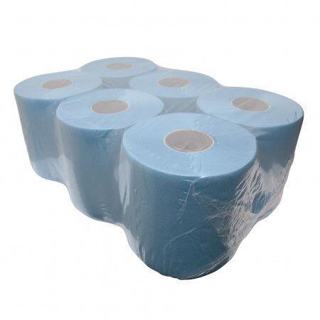 Blauw schoonmaakpapier Midi - 6 stuks