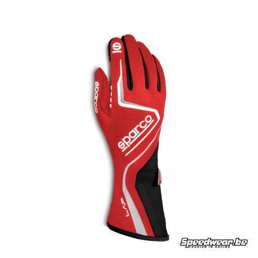 Sparco racehandschoen type LAP rood FIA homologatie
