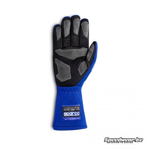 Sparco bugetvriendelijke handschoen autosport LAND Blauw