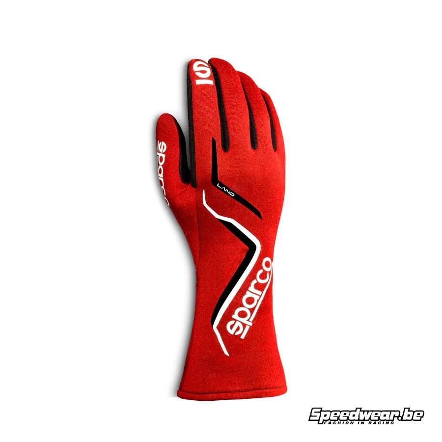 Sparco LAND - gehomologeerde handschoen - Rood