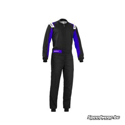 Sparco ROOKIE overall karting zwart blauw budgetvriendelijk