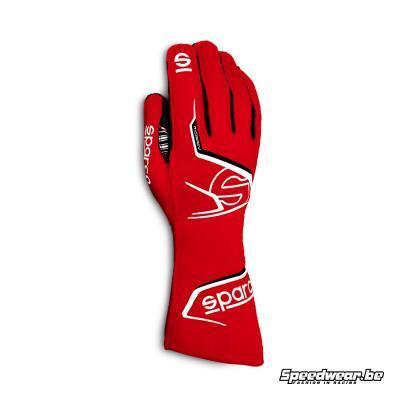 Sparco racehandschoen voor karting ARROW rood wit