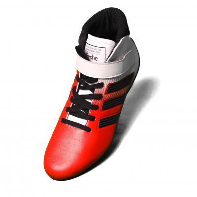 Adidas raceschoen type RS rood zwart FIA homologatie