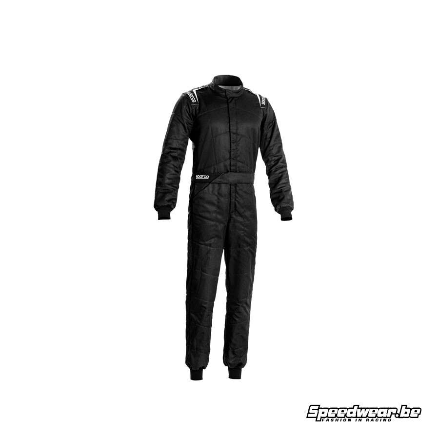Sparco SPRINT Raceoverall Zwart Wit Basisgamma