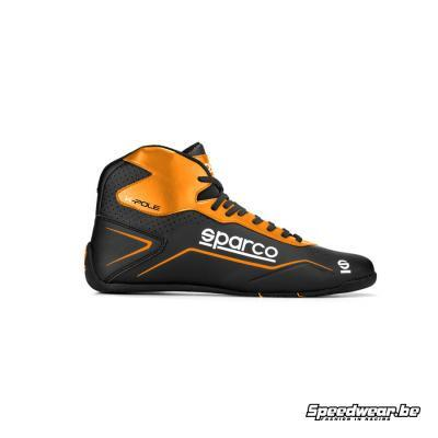 Sparco schoen karting POLE prijstopper zwart oranjewart fluo oranje