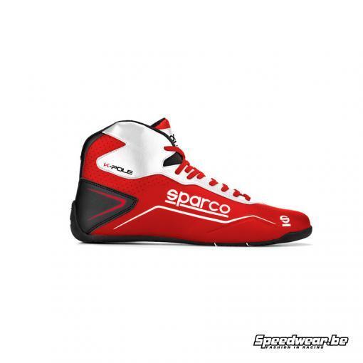 Sparco kartschoen bugetvriendelijk type POLE Rood Wit