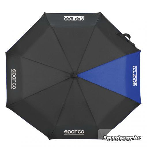 Sparco paraplu in kleur zwart blauw
