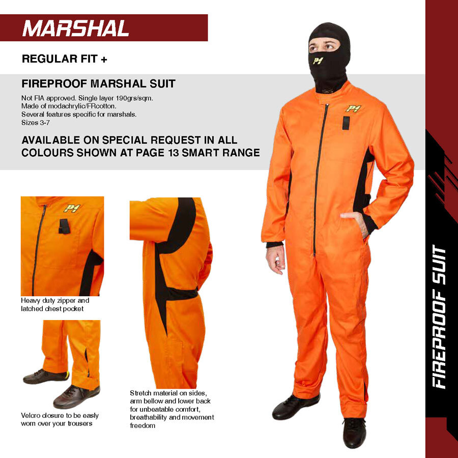 P1 Advanced Racewear voor MARSHAL