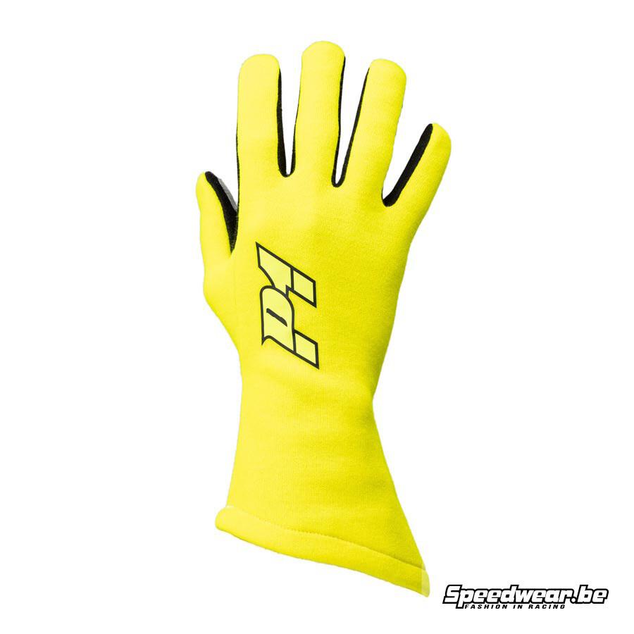 P1 Apex Racehandschoen fluo geel : Basis handschoen voor racewagens