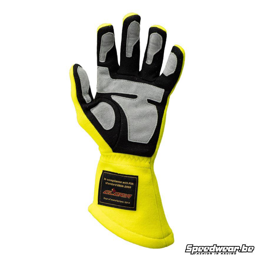 P1 Apex Racehandschoen fluo geel : Basis handschoen voor racewagens 1
