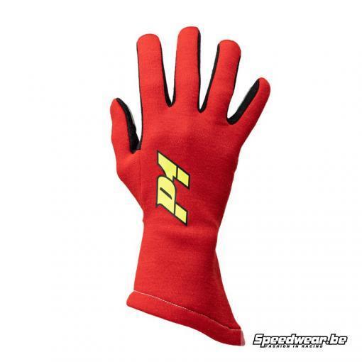 P1 Apex comfortabele handschoen voor autosport kleur Rood