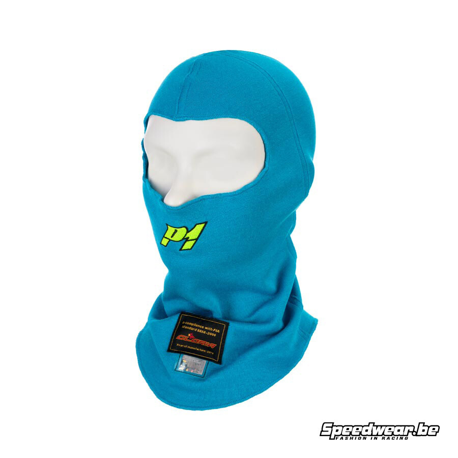 P1 Advanced Racewear Balaclava Racing Aramid - Turqouise