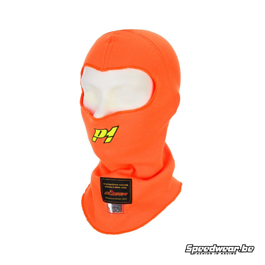 P1 Advanced Racewear Balaclava Racing Aramid - Fluo Oranje