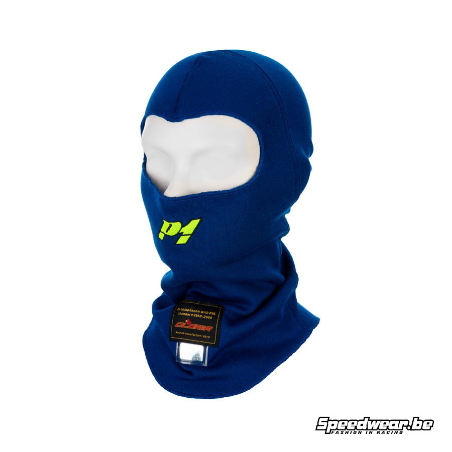 P1 Advanced Racewear Helm muts aramid - FIA - Blauw