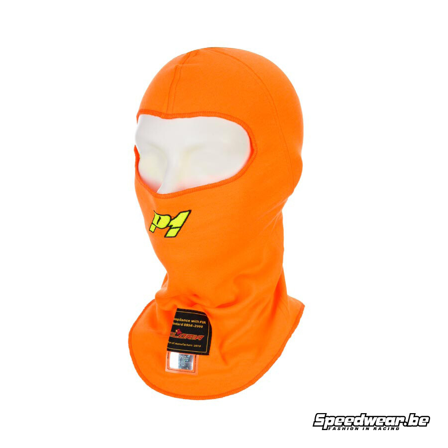 P1 Advanced Racewear Modacrylic helmmuts Racing Fluor oranje