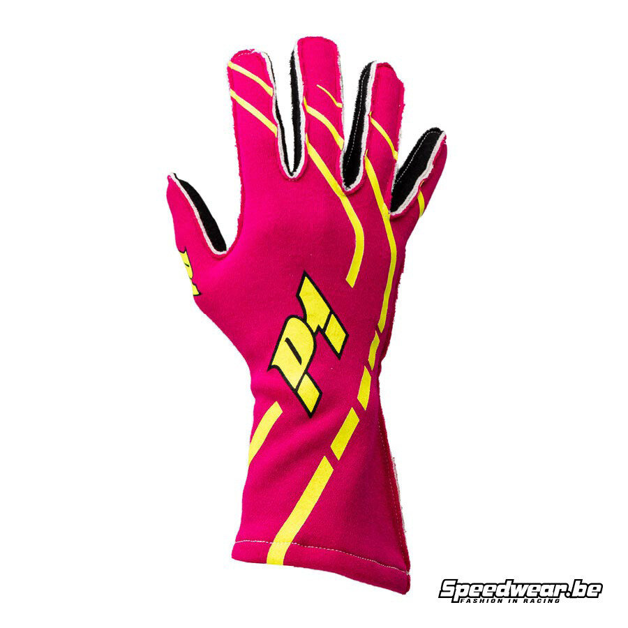 P1 Advanced racewear - gloves autoracing - Fuschia