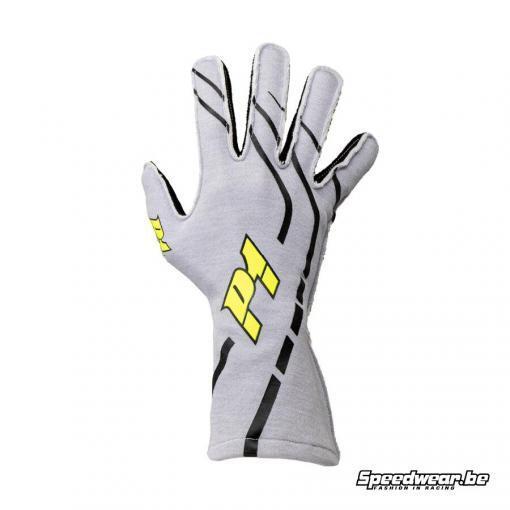 P1 Advanced racewear autosporthandschoen type Grip - Zilver