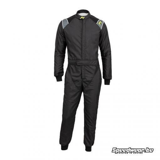 P1 Advanced racewear type RS GT FIA race overall Zwart Anthraciet