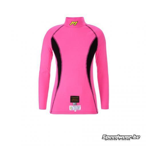 P1 Nomex T-shirt damesmodel - Fuchsia