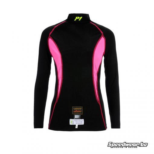 P1 Advanced Racewear voor dames Nomex T-shirt Zwart Fuchsia