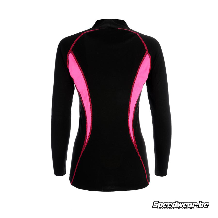 P1 Advanced Racewear voor dames Nomex T-shirt Zwart Fuchsia 1