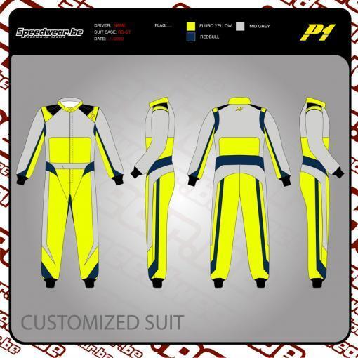 Racepak autosport van P1 - Volledig op maat en in eigen design 1