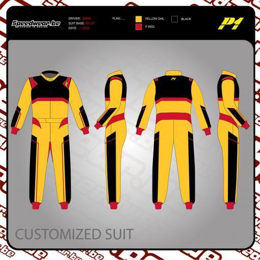 Racepak autosport van P1 - Volledig op maat en in eigen design 2