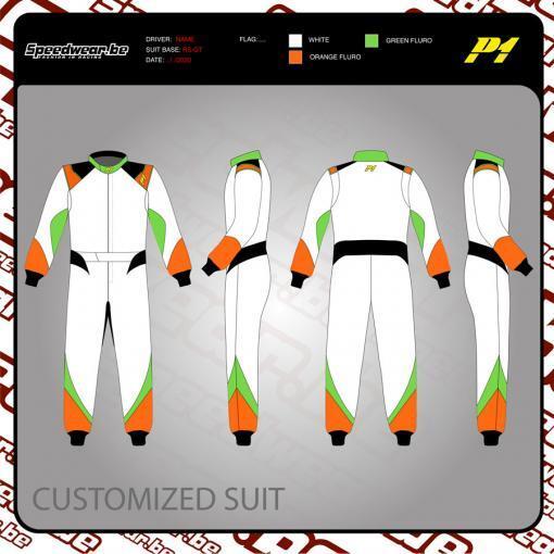 Racepak autosport van P1 - Volledig op maat en in eigen design 3