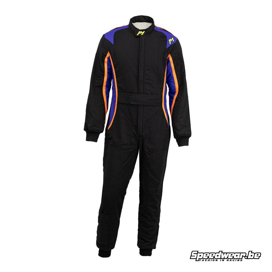 P1 Racewear FIA Racepak type XT Zwart